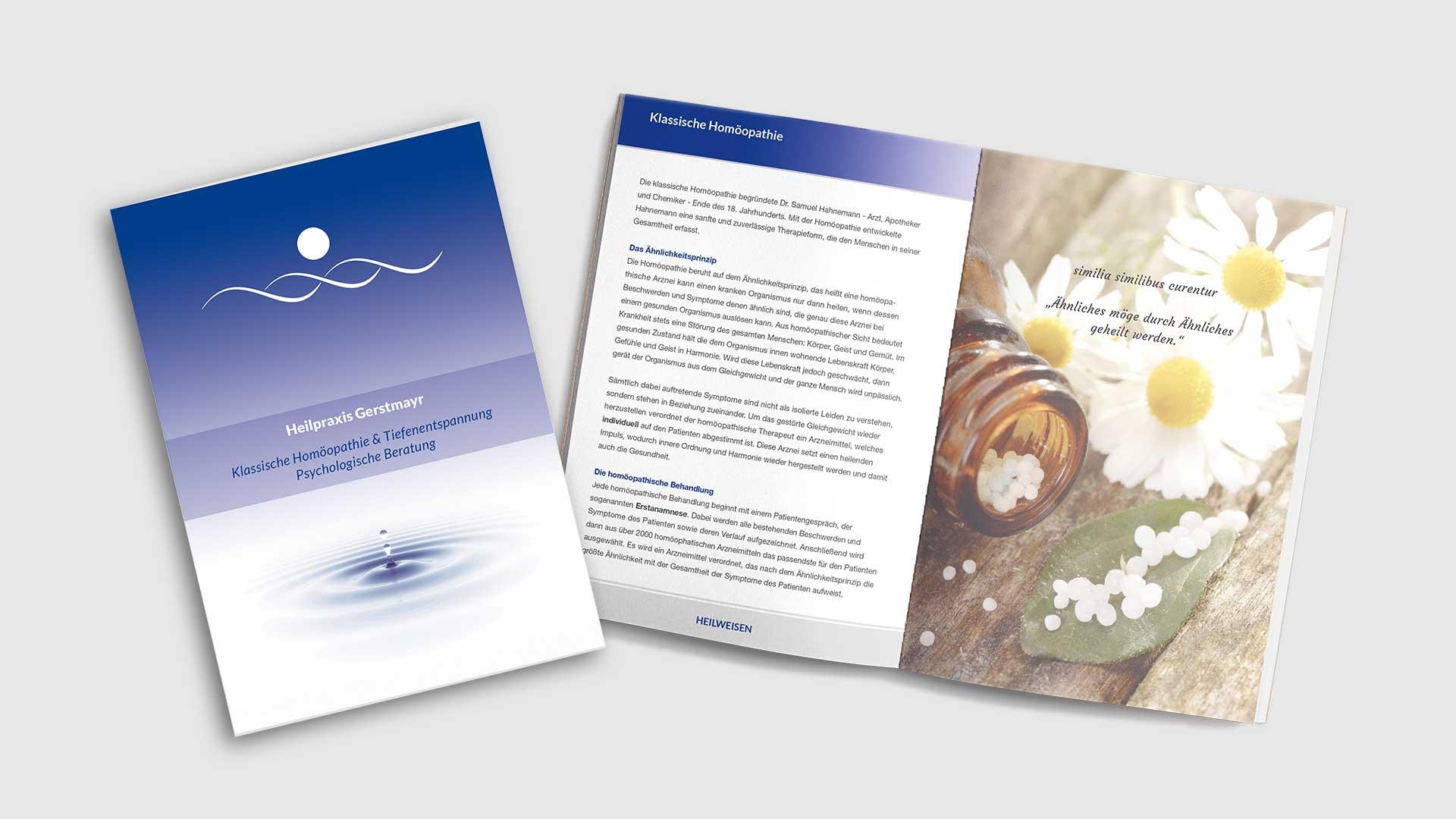 Broschüre Heilpraxis Gerstmayr